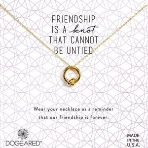 Dogeared friendship knot necklace